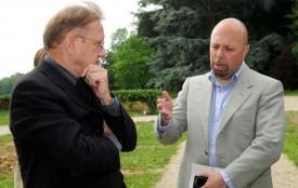 Richard Geoffroy con Alberto Lupetti all'Abbazia di Hautvillers