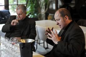 Foto con i fratelli Jean-Hervé e Laurent Chiquet, anima di Jacquesson