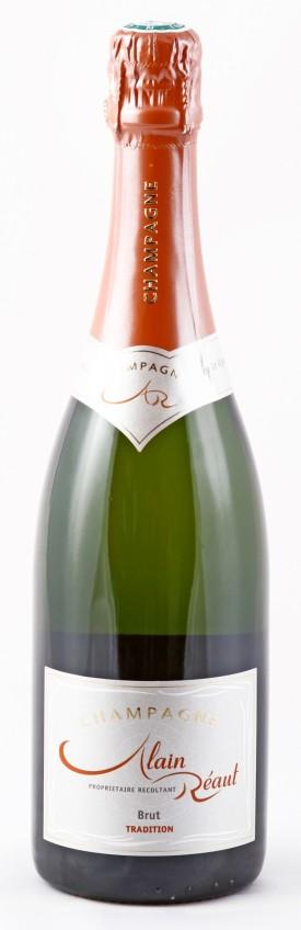 La bottiglia di Champagne Brut Tradition di Alain Réaut