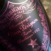 Etichetta di champagne dom pérignon rosé 1992