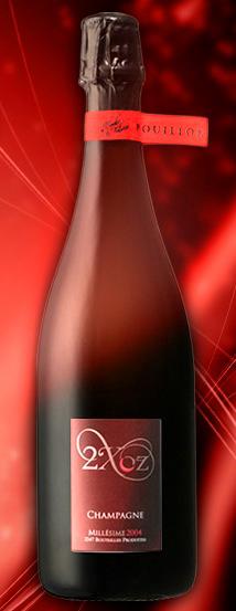 bottiglia di champagne 2Xoz 2004