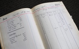 Il libro di cantina, con assemblaggio dei vari champagne Jacquesson