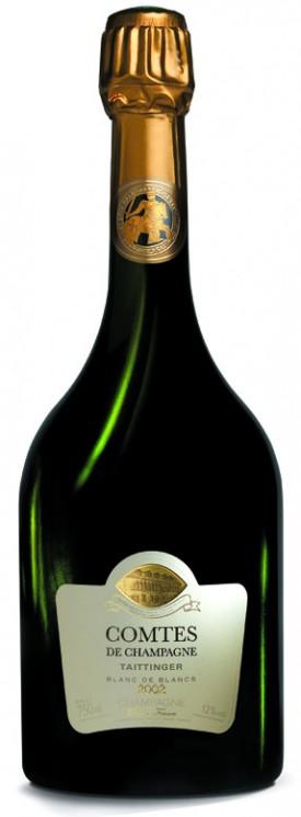 bottiglia della nuova annata 2002 del Comtes de Champagne di Taittinger