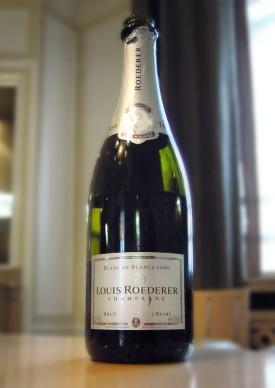 Bottoglie di Champagne Blanc de blancs 2006 di Roededer
