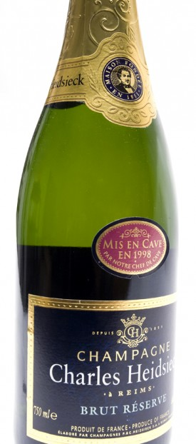 etichetta bottiglia di Champagne Charles Heidsieck del 1998