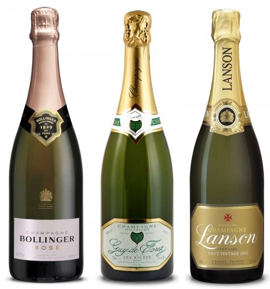 bottiglie di champagne consigliato