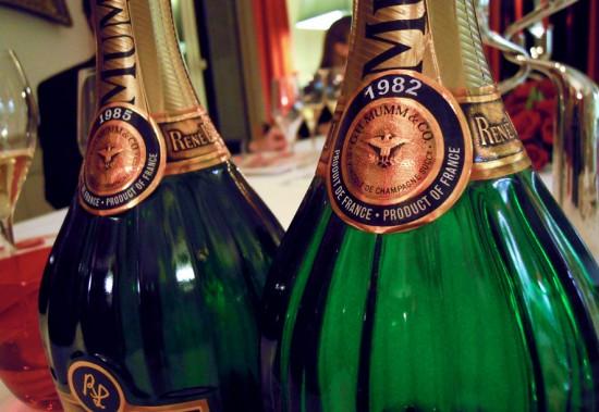 bottiglie di champagne rene lalou