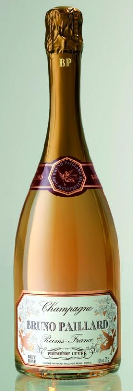 Bottiglia di Champagne Bruno Paillard, rosé.