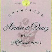 etichetta champagne Deutz amour 2003