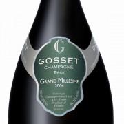bottiglia di champagne gosset 2004
