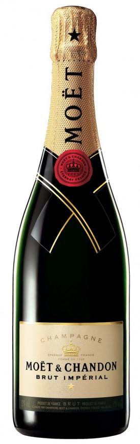 bottiglia di champagne moet chandon brut imperial