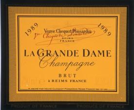 etichetta champagne la grande dame 1989