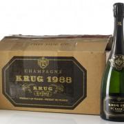 champagne krug e la sua scatola originale