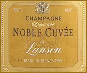 etichetta champagne lanson noble cuvée