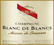 etichetta champagne mumm blanc de blancs