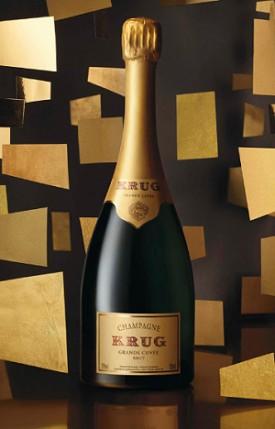 bottiglia di champagne Krug la Grande Cuvee