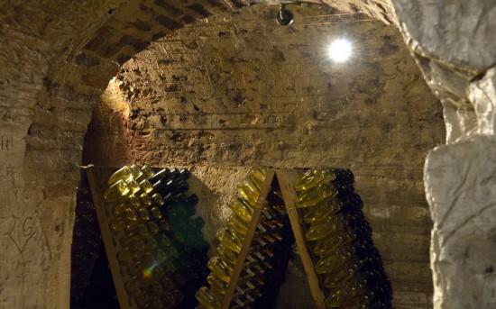 Le cantine sotterranee dello champagne di Besserat