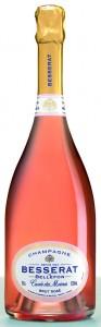 bottiglia di champagne Rosé Besserat de Bellefon