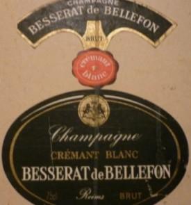 etichetta dello champagne della Cuvée des Moines