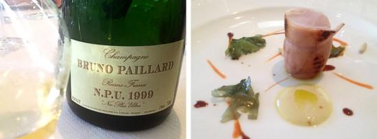 abbinamento champagne bruno paillard npu 1999