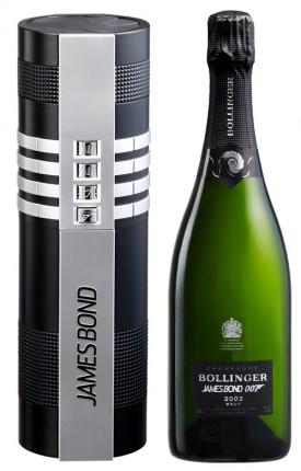 champagne bollinger la grande anne 1999 e astuccio celebrativo per 007