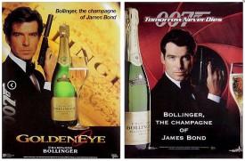 locandine 007 con Pierce Brosnan e sodalizio bollinger
