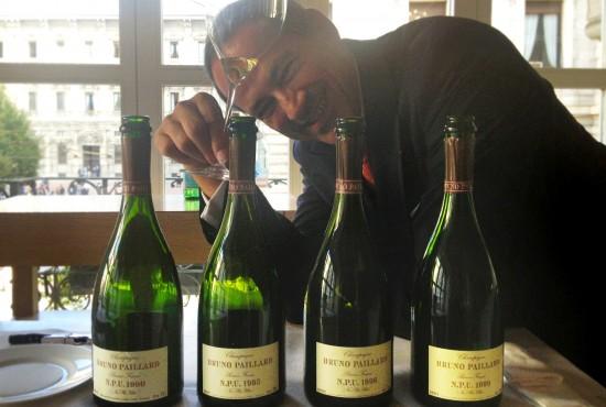Verticale Chamapgne: Bruno Paillard con le quattro annate di N.P.U.