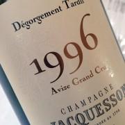 champagne jacquesson Dégorgement Tardif Avize 1996