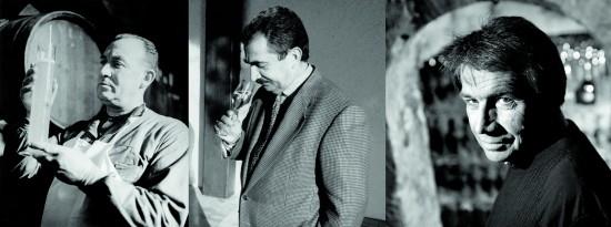 foto di tre chef de cave dal dopoguerra a oggi, Laurent-Perrier