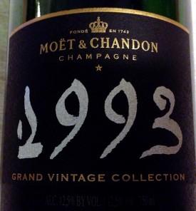 degustazione del Grand Vintage Collection 1993, champagne eccellente