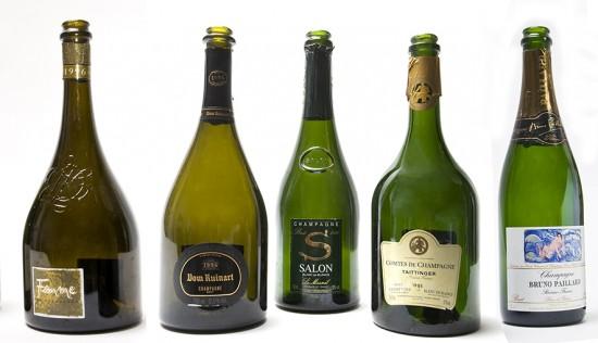 bottiglie per questa degustazione di champagne annata 1996