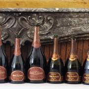 verticale ruinart, foto bottiglie di champagne