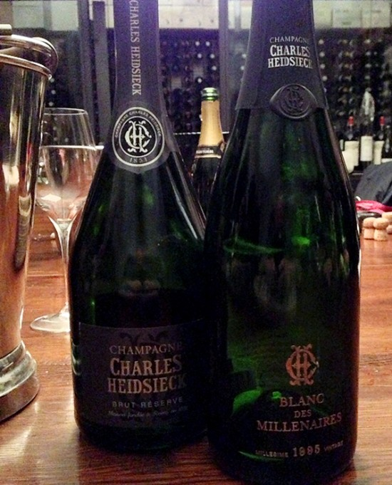degustazione champagne Charles Heidsieck
