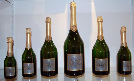bottiglie di champagne deutz