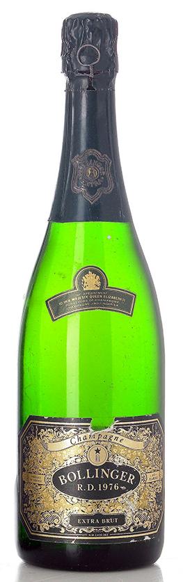 bottiglia champagne R.D. Bollinger 1976