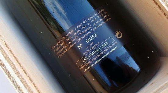 controetichetta bottiglia champagne bruno paillard