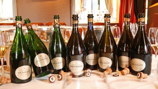 bottiglie di champagne per la verticale Henriot Cuvée des Enchanteleurs