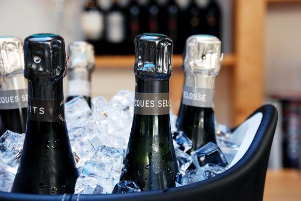 Champagne Selosse in ghiaccio
