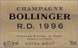 Etichetta Champagne R.D. di Bollinger