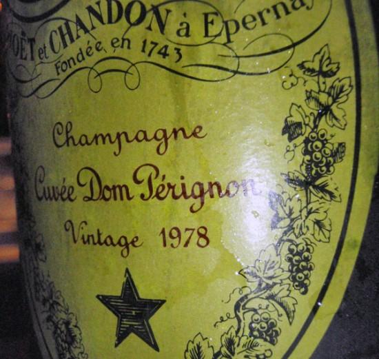 bottiglia etichetta Dom Pérignon Vintage 1978