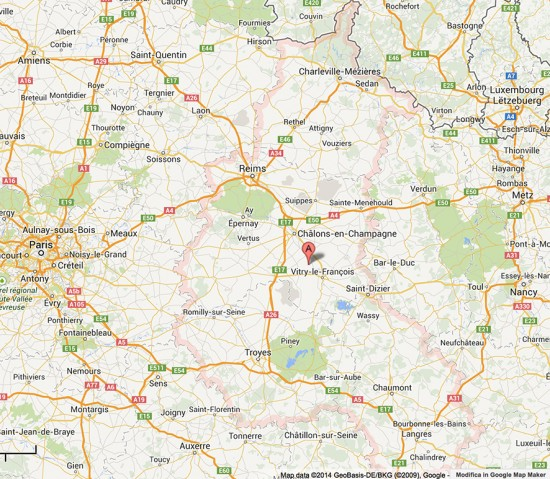 mappa regione Champagne-Ardenne
