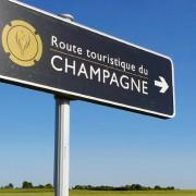 cartello che indica il giro turistico in champagne