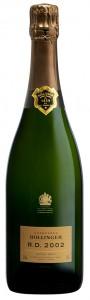 bottiglia di champagne bollinger R.D. 2002