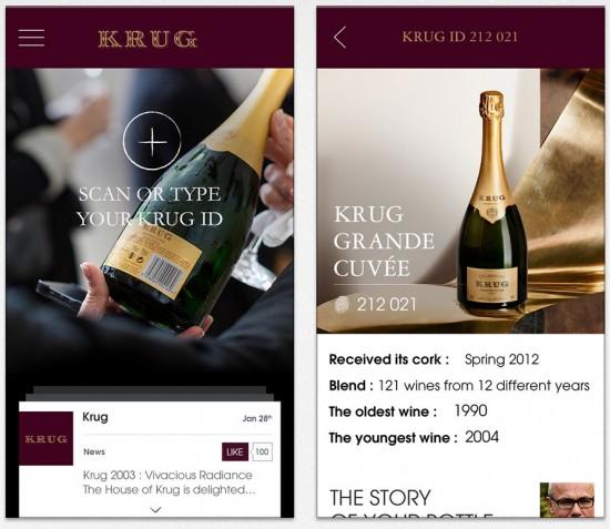 app per mobile Champagne Krug