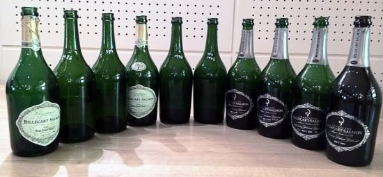 foto delle bottiglie per la verticale Cuvée Nicolas François