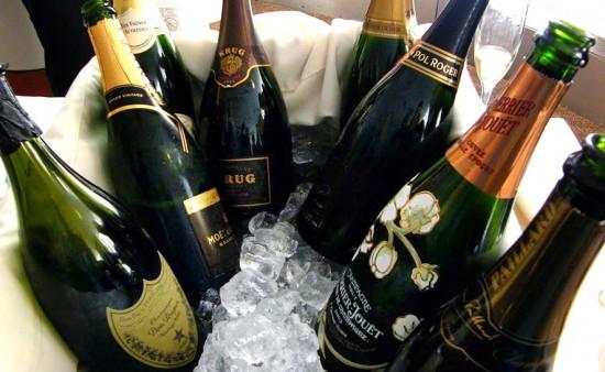 bottiglie per degustazione champagne