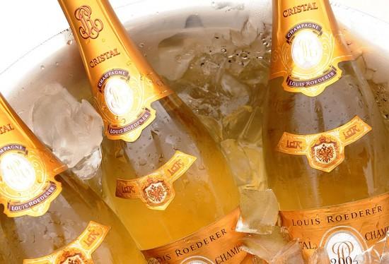 bottiglie champagne cristal 1995