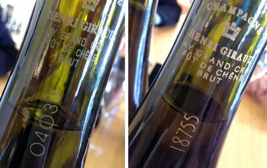 numerazione bottiglie champagne Fût de Chêne