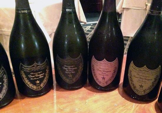 verticale champagne dom perignon