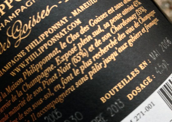 controetichetta champagne Philipponnat